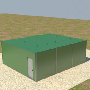 Fortified Front Line Posts, a Security Product by Mifram: Roof fortification completed