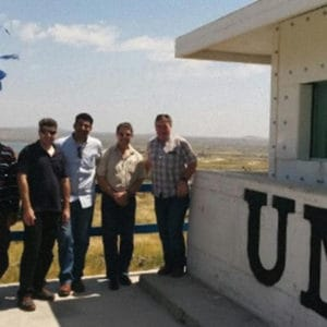 Improving External Fortification, a Security Product by Mifram: Satisfied UN personnel after installation of the protective elements