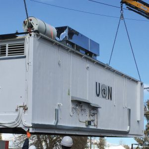 Mobile Kitchens, an Auxiliary Building by Mifram: Easily and simply transported using available resources