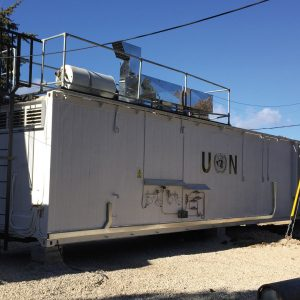 Mobile Kitchens, an Auxiliary Building by Mifram: Mobile kitchen at a UN camp next to an existing kitchen