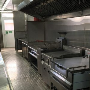 Mobile Kitchens, an Auxiliary Building by Mifram: Industrial kitchen equipment that can provide hundreds of hot meals every day