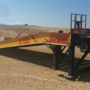 Mobile Ramp, a Security Product by Mifram: The ramp is used by the IDF in its southern bases. Designed for use by fork lift trucks, mechanical equipment, APC's, vehicles, trucks and other equipment
