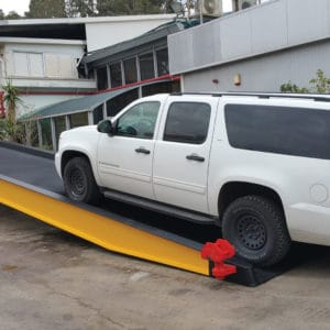 Mobile Ramp, a Security Product by Mifram: A wide ramp for vehicles supplied to an international client