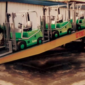 Mobile Ramp, a Security Product by Mifram: Equipment can be loaded and unloaded exactly where it is needed