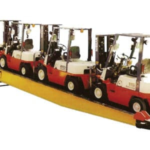 Mobile Ramp, a Security Product by Mifram: Ideal for loading and unloading containers using a fork lift truck